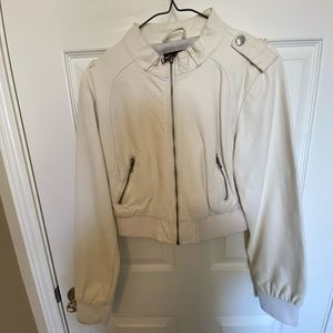 New Look Faux Leather Bomber Jacket